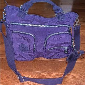$bogo$ Kipling purple Crossbody bag purse women's